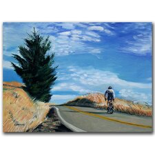 "<strong>Trademark Fine Art</strong> Biker Ascending by Colleen Proppe, Canvas Art - 14"" x 19"""