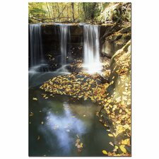 "<strong>Trademark Fine Art</strong> Autumn Falls by Kurt Shaffer, Canvas Art - 24"" x 16"""