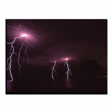 "<strong>Trademark Fine Art</strong> Lake Lightning by Kurt Shaffer, Canvas Art - 14"" x 19"""