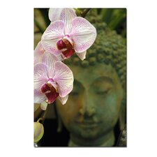 "Orchids and Buddha by Kurt Shaffer, Canvas Art - 24"" x 16"""