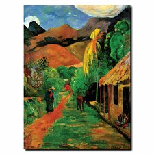 "<strong>Trademark Fine Art</strong> Rue de Tahiti by Paul Gaughin, Canvas Art - 19"" x 14"""