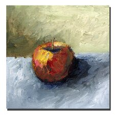 "<strong>Trademark Fine Art</strong> Apple Still life with Grey and Olive by Michelle Calkins, Canvas Art - 24"" x 24"""