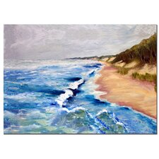 "<strong>Trademark Fine Art</strong> Lake Michigan Beach with Whitecaps I by Michelle Calkins, Canvas Art - 24"" x 36"""