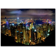 Hong Kong, China by Yakov Agani Canvas Art