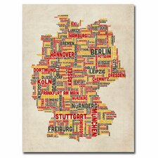 <strong>Trademark Fine Art</strong> Germany Text Map II Canvas Wall Art