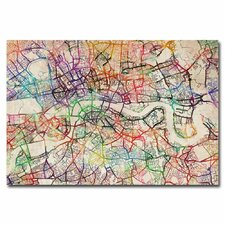 <strong>Trademark Fine Art</strong> London Street Map I Canvas Wall Art
