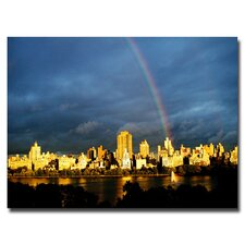 "<strong>Trademark Fine Art</strong> ""City Rainbow II"" Canvas Art"