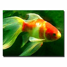 """""""Goldfish"""" by Amy Vangsgard Painting Print on Canvas"""