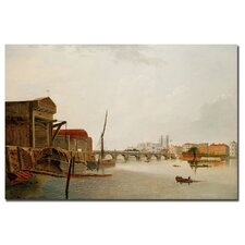"<strong>Trademark Fine Art</strong> ""Westminster Bridge"" Canvas Art"