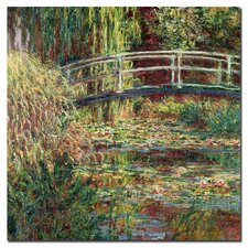 """Waterlily Pond Pink Harmony, 1900"" by Claude Monet Painting Print on Canvas"