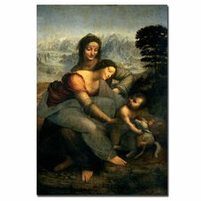 """Virgin and Child with St. Anne"" by Leonardo Da Vinci Painting Print on Canvas"