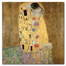 """The Kiss, 1907-8"" by Gustav Klimt Painting Print on Canvas"