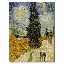 "<strong>Trademark Fine Art</strong> ""Road with Cypresses, 1890"" Canvas Art"