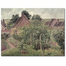 """""""Landscape with Cottage Roof, 1889"""" by Camille Pissarro Painting Print on Canvas"""