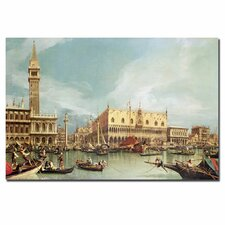 """The Molo, Venice"" by Canaletto Painting Print on Canvas"