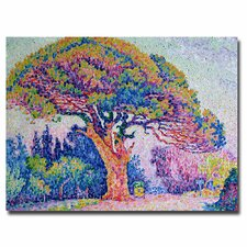 """The Pine Tree at St.Tropez, 1909"" by Paul Signac Painting Print on Canvas"