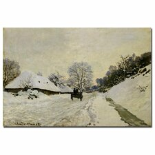 """""""The Cart, 1865"""" by Claude Monet Painting Print on Canvas"""