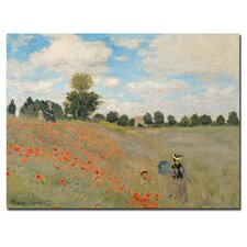 "<strong>Trademark Fine Art</strong> ""Wild Poppies Near Argenteuil"" Canvas Art"