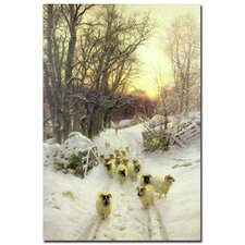 "<strong>Trademark Fine Art</strong> ""The Sun Had Closed a Winter""s Day"" Canvas Art"