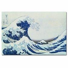 """The Great Kanagawa Wave"" by Katsushika Hokusai Painting Print on Canvas"