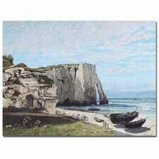 "<strong>Trademark Fine Art</strong> ""The Cliffes at Etretat, 1870"" Canvas Art"