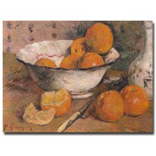 "<strong>Trademark Fine Art</strong> ""Still Life with Orange, 1881"" Canvas Art"