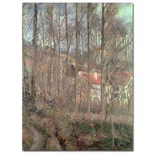 """""""Cote Des Boeuf, 1877"""" by Camille Pissarro Painting Print on Canvas"""