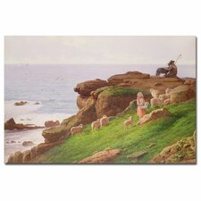 """The Pet Lamb"" Canvas Art"