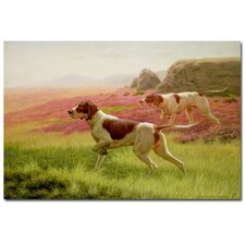 "<strong>Trademark Fine Art</strong> ""Pointers in the Landscape"" Canvas Art"