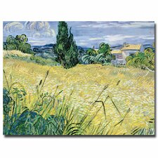 """""""Landscape with Green Corn, 1889"""" by Vincent van Gogh Painting Print on Canvas"""