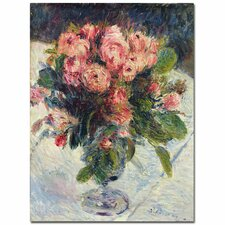 """""""Moss-Roses, 1890"""" by Pierre-Auguste Renoir Painting Print on Canvas"""