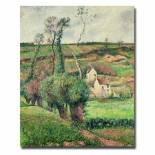 """""""The Cabbage Slopes Pontoise, 1882"""" by Camille Pissarro Painting Print on Canvas"""