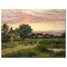 "<strong>Trademark Fine Art</strong> ""Worcestershire Cottages, 1912"" Canvas Art"