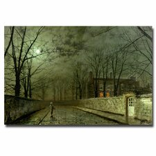 "<strong>Trademark Fine Art</strong> ""Silver Moonlight, 1880"" Canvas Art"