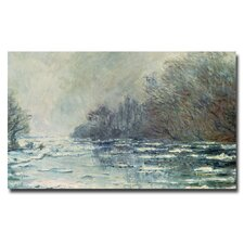 """""""The Break Up at Vetheuil, 1883"""" by Claude Monet Painting Print on Canvas"""