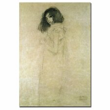 """Portrait of a Young Woman, 1896-97"" by Gustav Klimt Graphic Art on Canvas"