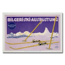 "<strong>Trademark Fine Art</strong> ""Skiing in Austria, 1912"" Canvas Art"