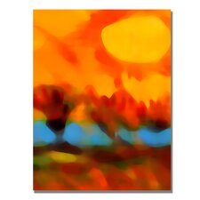 "<strong>Trademark Fine Art</strong> ""Sunset in the Fields"" Canvas Art"