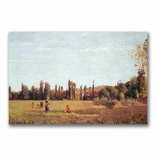 """""""La Varenne De St. Hilaire, 1863"""" by Camille Pissarro Painting Print on Canvas"""