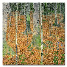 """The Birch Wood"" by Gustav Klimt Painting Print on Canvas"