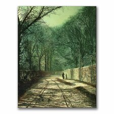"<strong>Trademark Fine Art</strong> ""Tree Shadows in the Park Wall"" Canvas Art"