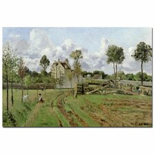 """""""Louveciennes, 1872"""" by Camille Pissarro Painting Print on Canvas"""