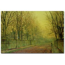 "<strong>Trademark Fine Art</strong> ""In the Golden Glow of Autumn"" Canvas Art"
