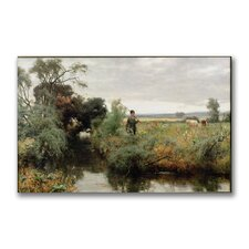 "<strong>Trademark Fine Art</strong> ""Off Fishing"" Canvas Art"