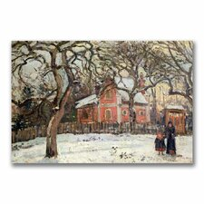 """""""Chestnut Trees at Louveciennes"""" by Camille Pissarro Painting Print on Canvas"""