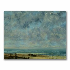 """""""The Sea C.1872"""" by Gustave Courbet Painting Print on Canvas"""
