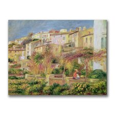 """""""Terrace in Cagnes"""" by Pierre Renoir Painting Print on Canvas"""