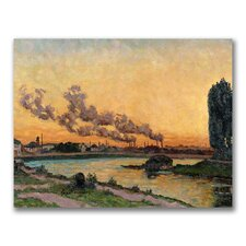 "<strong>Trademark Fine Art</strong> ""Setting sun at Ivry"" Canvas Art"