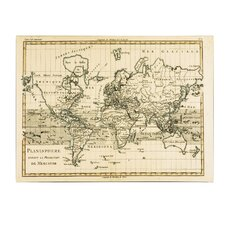 "<strong>Trademark Fine Art</strong> ""Mercator Map of the World"" Canvas Art"
