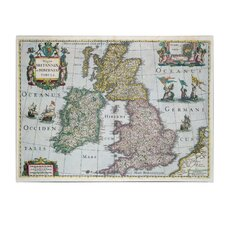 "<strong>Trademark Fine Art</strong> ""Map of Britain 1631"" Canvas Art"